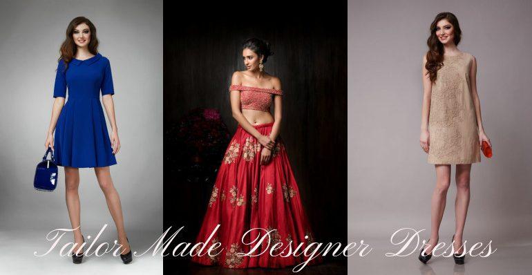 tailor made designer wear for women, custom tailored designer wedding, casual and business wear